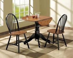 Acme 00878 3-Piece Mason Dining Set, Cherry and black finish