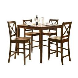 Acme 07550 5-Piece Martha Counter Height Dining Set, Espress
