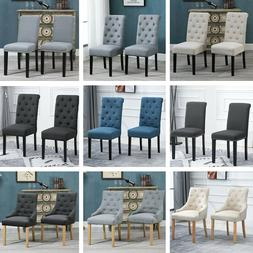 2/4/6Pcs Dining Chairs Armchair High Back Upholstered Fabric