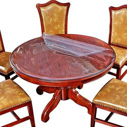 2 Set Round Table Protector Cover Clear Plastic Vinyl Tablec