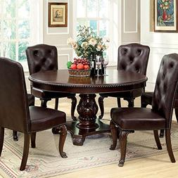 247SHOPATHOME IDF-3319RT-7PC-L Dining-Room, 7-Piece Set, Bro