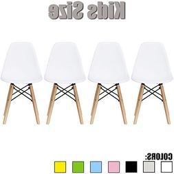 2xhome - Set of Four  - White - Kids Size Side Chairs White