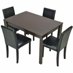 3 5 Piece Dining Set Table and Chairs Kitchen Modern Furnitu