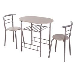 3 PCS Dining Set Table & 2 Chairs Bistro Pub Home Kitchen