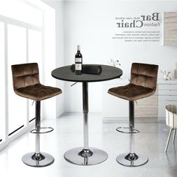 3 Piece Bar Stools Pub Table Set Counter Height Swivel Dinin