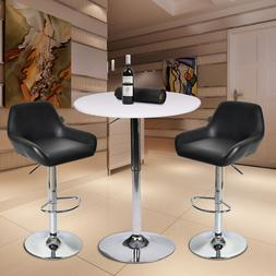 3-Piece Bar Table Set Counter Bar Stools Dining Chairs Bistr
