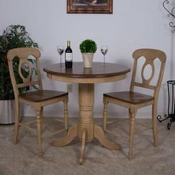 Sunset Trading 3-Piece Brook 36 in. Round Pub Dining Table S