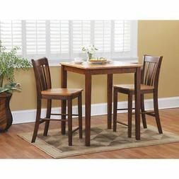 International Concepts 3 Piece Counter Height Dining Set wit