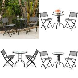 Best Choice Products 3-Piece Polyester Patio Bistro Dining F