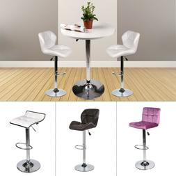 3-Piece Pub Table Set Bar Stools Adjustable Dining Chair Cou