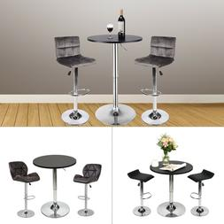 3 Piece Pub Table Set Bar Stool Counter Height Bistro Kitche