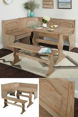 Simple Living 3-Piece Rustic Natural Breakfast/Dining Nook S