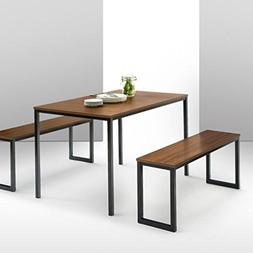 3 piece set Zinus Modern Studio Collection Soho Dining Table