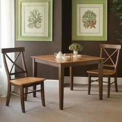 International Concepts 36 by 36-Inch Dining Table with X-Bac