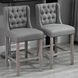 """40"""" Tufted Counter Height Bar Stool Dining Chair Accent Furn"""