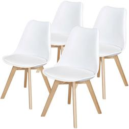 4Pcs Dining Chairs DSW Chair Shell Lounge Chair Living Dinin