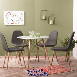 4x Gray Dining Chairs Kitchen Living Room Chair Mid Century