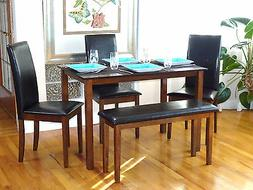 5 PC Dining Kitchen Set Rectangular Table 3 Fallabella Chair