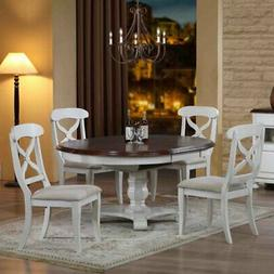 Sunset Trading 5-Piece Andrews Oval Butterfly Leaf Dining Se
