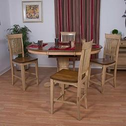 Sunset Trading 5-Piece Brook Butterfly Leaf Pub Dining Table