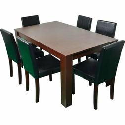 5 Piece Dining Kitchen Table Chairs Set Rectangular Breakfas