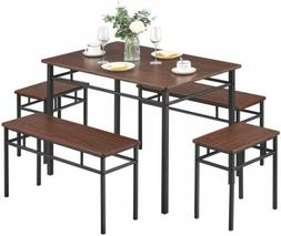 5 Piece Dining Set Kitchen Table and Chair Furniture with be