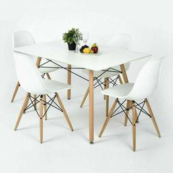 5 Piece Dining Set Table And 4 Chairs Home Kitchen Room Brea
