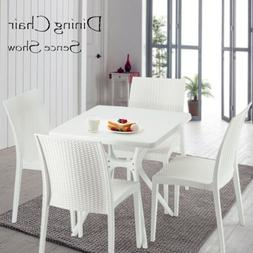 5 Piece Dining Table Set For 4 Chairs Rattan Metal Kitchen B