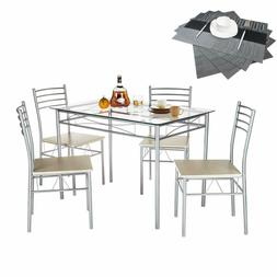 5 piece dining table set with chairs