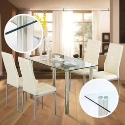 7 Piece Dining Wood Table Set 6 Chairs Dinette Room Kitchen