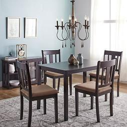 5 Piece Kitchen Dining Table Set 4 Chairs Wooden Breaskfast
