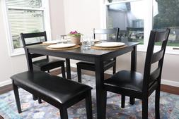 5 piece kitchen dining table set bench