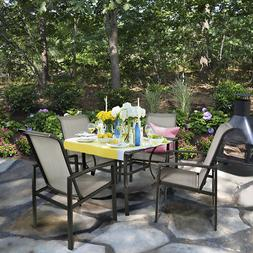 Barton 5-Piece Outdoor Patio Dining 1 Table and 4 Chairs Set
