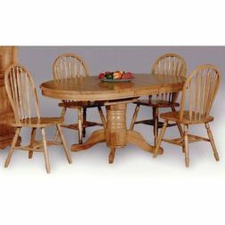Sunset Trading 5-Piece Pedestal Dining Set with Arrowback Ch