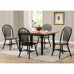 Sunset Trading 5-Piece Pedestal Extension Dining Set with Ar