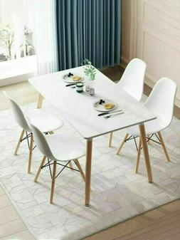 5 Piece Pine Wood Dining Table and 4 Chairs Dining Table Set