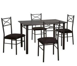 Target Marketing Systems 5 Piece Valencia Dining Set with 1