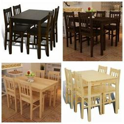 5 Piece Wood Rectangular Dining Dinette Kitchen Table & 4 Ch