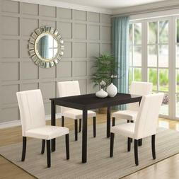 5 Pieces Dining Table Set for 4 Person Home Kitchen Table an