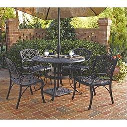 Home Styles 5554-308 Biscayne 5-Piece Outdoor Dining Set, Bl