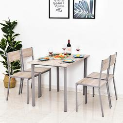 5PC Compact Contemporary Bar Height Dining Set w/ Table & Ch
