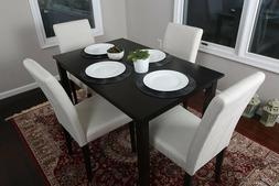 Home Life 5pc Dining Dinette Table Chairs & Bench Set Light