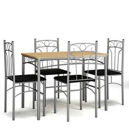 5PCS Dining Set Table and 4 Chairs Modern Home Kitchen Furni