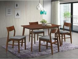 5PCS Wooden Dining Table Set 4 Chair Seat Breakfast Kitchen