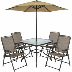 Best Choice Products 6-Piece Outdoor Folding Patio Dining Se