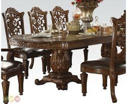 ACME 60000 Vendome Double Pedestal Table, Cherry Finish