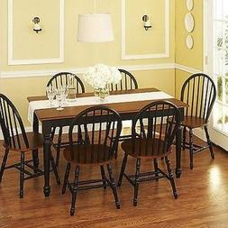 7 pc Dining Set Dinette Sets 6 Chairs Table Kitchen Room Fur