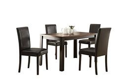 ACME Furniture 71800 Kylan 5 Piece Dining Set, Dark Cherry &