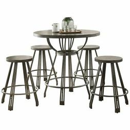 ACME Furniture 71885 Davin 5 Pieces Pack Counter Height Set,