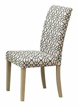 ACME Furniture 71907 Glassden Side Chair , Blue Fabric & Lig